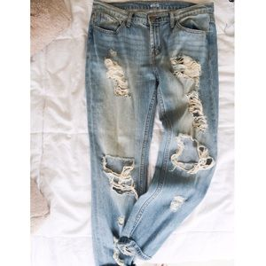 Urban Outfitters BDG Ripped Slim Boyfriend Jeans